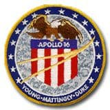 NASA Apollo 16 Embroidered Mission Patch 4""