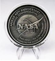 NASA Apollo 40th Anniversary Medal (With Flown Apollo Metal)