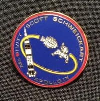 NASA Apollo 9 Mission Lapel Pin