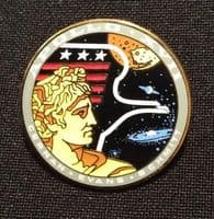 NASA Apollo Mission 17 Lapel Pin