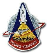 NASA STS-1 Columbia Embroidered Space Shuttle Mission Patch