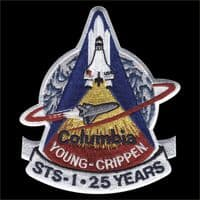 NASA STS-1 Space Shuttle 25 Years Anniversary Patch