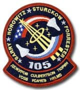 NASA STS-105 Discovery Mission Patch