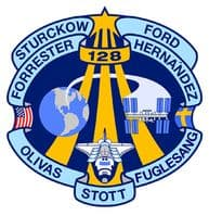NASA STS-128 Discovery Space Mission Patch