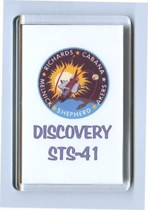 NASA STS-41 Discovery fridge magnet