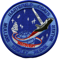 NASA STS-41D Discovery Embroidered Space Shuttle Mission Patch