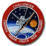 NASA STS-7 Challenger Embroidered Space Shuttle Mission Patch