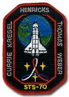 NASA STS-70 Discovery Mission Patch