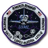 NASA STS-73 Columbia Mission Patch