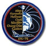 NASA STS-75 Columbia Mission Patch