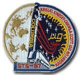 NASA STS-87 Columbia Mission Patch