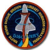 NASA STS-95 Discovery Mission Patch