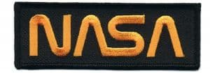NASA Worm Logo Embroidered Patch #3