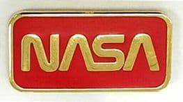 NASA 'Worm' Logo Lapel Pin