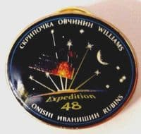 OFFICIAL NASA EXPEDITION 48 ISS INTERNATIONAL SPACE STATION MISSION LAPEL PIN