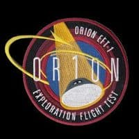 Orion EFT-1 First Flight Embroidered Patch 4""