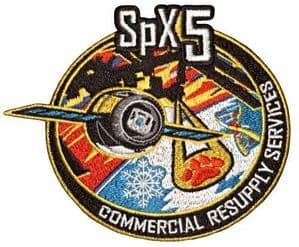SpaceX's SPX 5 Commercial Resupply Service Patch