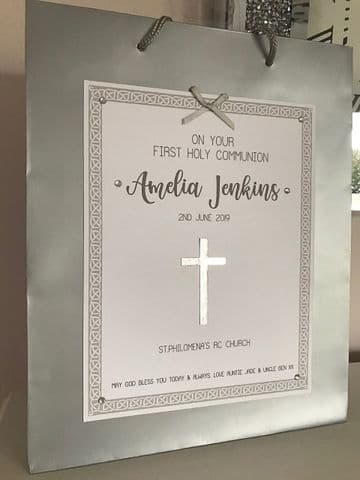1st Holy Communion Gift Bag -Silver