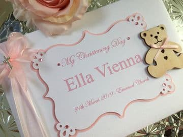 Baby Girl Christening Guest Book