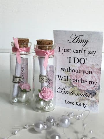 Bridesmaid Proposal Gift Message In A Bottle