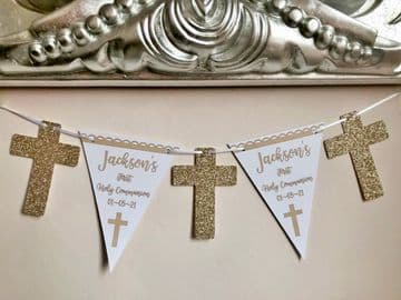Communion Banner Personalised - Gold