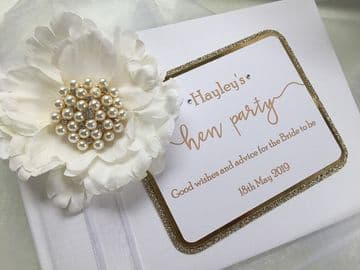 Elegant Hen Party Guest Book