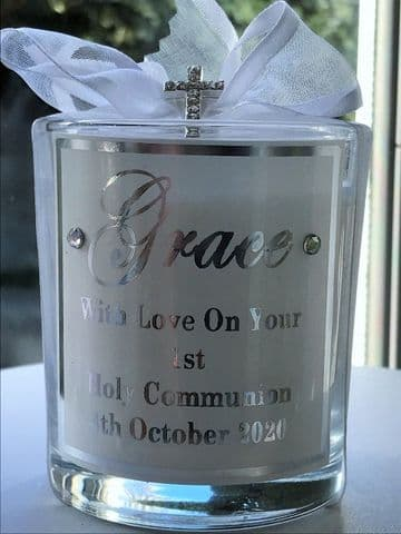 First Holy Communion Candle - Gift Boxed