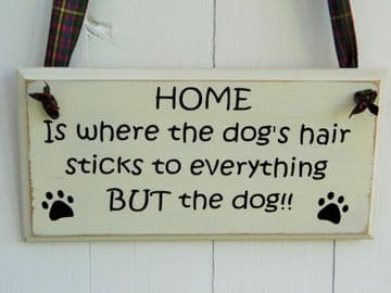 Funny Wall Plaque - Home