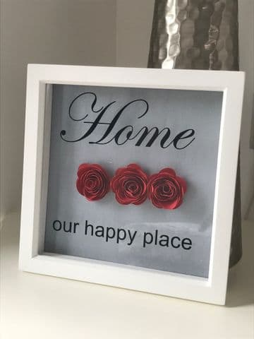 Home Our Happy Place Frame