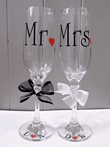 Mr & Mrs Champagne Flutes