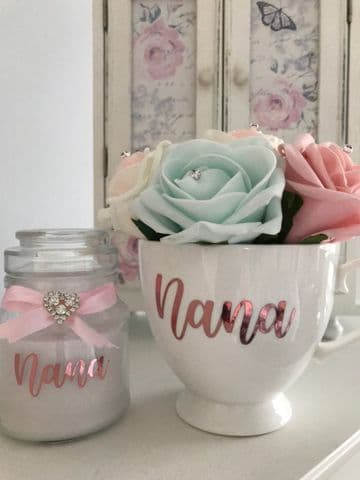 Nana Teacup & Candle Gift Set