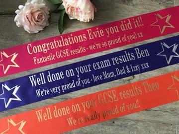 PersonaIised GCSE Results Banner