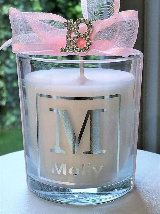 Personalised 18th Birthday Candle Gift Boxed