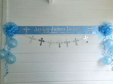 Personalised 1st Holy Communion Decorations - Blue