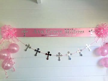 Personalised 1st Holy Communion Decorations - Pink
