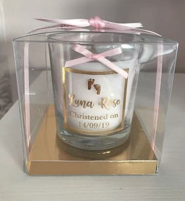 Personalised Christening Candle - Gift Boxed
