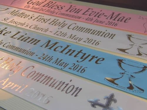 Personalised First Holy Communion Banners