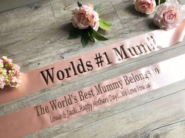 Personalised Mothers Day Sash