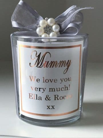 Personalised Mummy Candle Gift