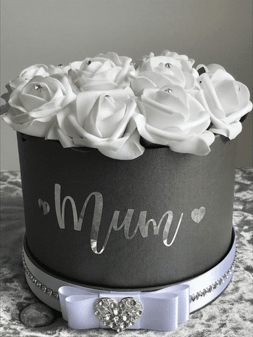 Rose Filled Hat Box - Mum