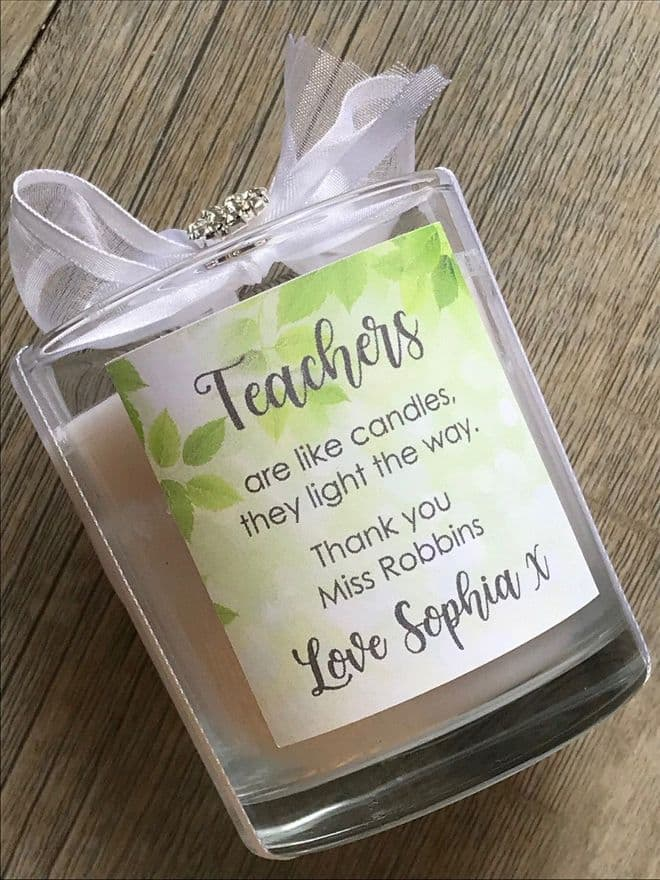 Thank you Teacher Candle  Gift Boxed