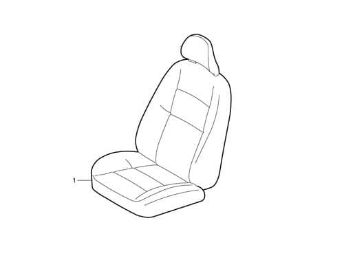 Volvo Drivers Side Seat Base Upholstery 39875883