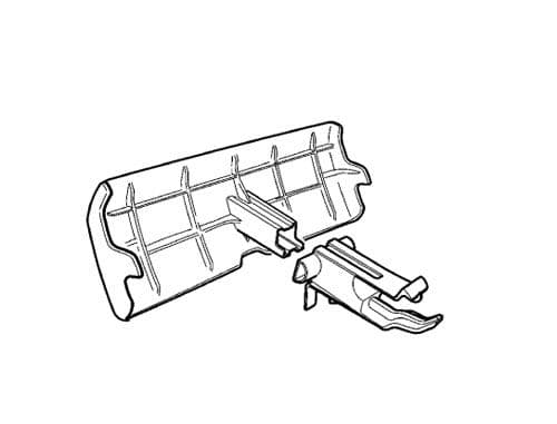 Volvo Rear Bumper Cover For Detachable Tow Bars Marked 9496985