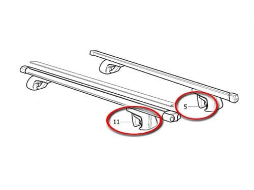Volvo Replacement Rubber Feet For Cross Bars 8682248 (Pair)