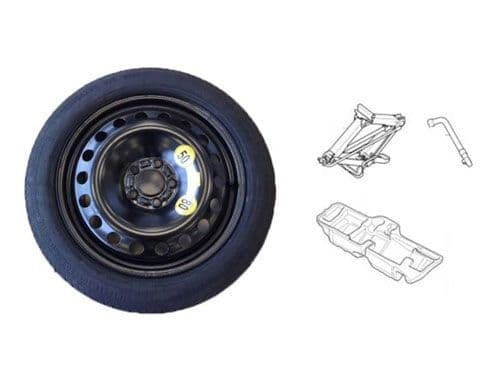 New V60 2019 Onwards, Space Saver Wheel Kit, Wheel & Tyre (125/70 R18), Genuine Volvo