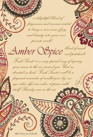 AMBER SPICE - WILLOWBROOK SCENTED SACHET