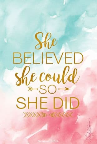 SHE BELIEVED SHE COULD SO SHE DID - WILLOWBROOK  SCENTED SACHET - NEW