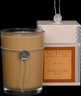 VOTIVO AROMATIC BOXED JAR CANDLE Moroccan Fig