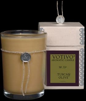VOTIVO AROMATIC BOXED JAR CANDLE Tuscan Olive