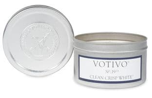 Votivo Travel Tin - Clean Crisp White